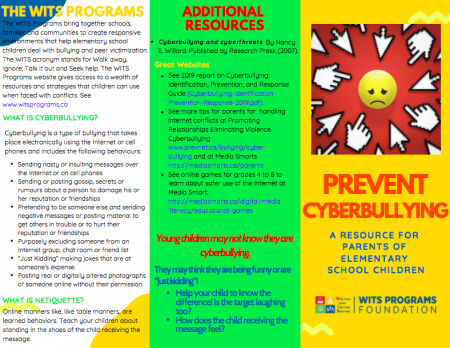 Cyber-bullying Pamphlet – WITS